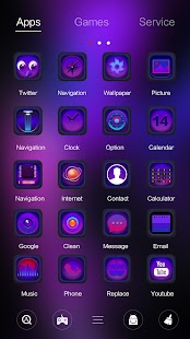 Dummy Glass GO Launcher Theme - náhled