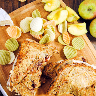 Three Cheese Panini with Apples and Fig Jam