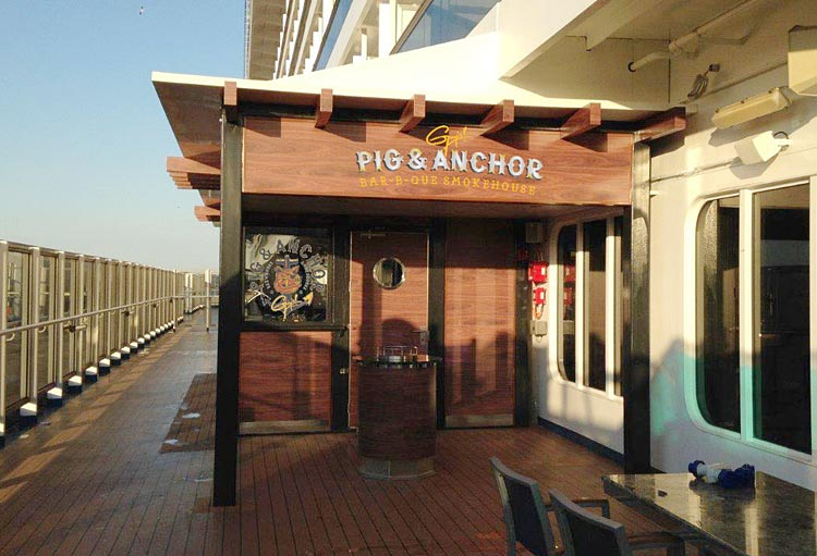Guy's Pig & Anchor Bar-B-Que Smokehouse, the new bbq restaurant on Carnival Magic.