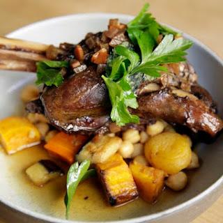 Braised Lamb Shank with Garbanzo Bean Salad