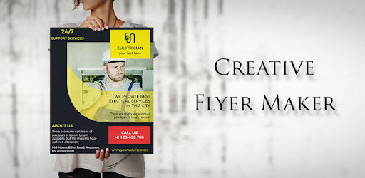 poster maker flyers banners graphic design apps on google play