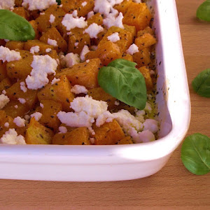 Roasted Pumpkin With Basil And Curd
