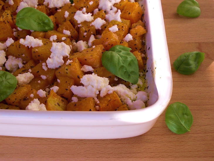Roasted Pumpkin with Basil and Curd Recipe