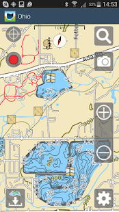 Aqua Map Ohio Lakes GPS - náhled