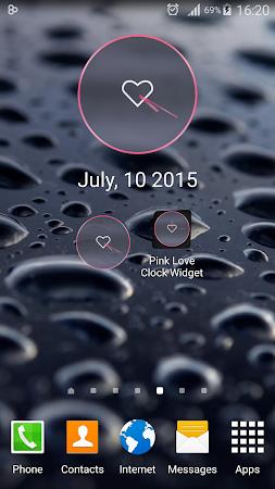 Pink Love Clock Widget 5.5.1 screenshot 1568945