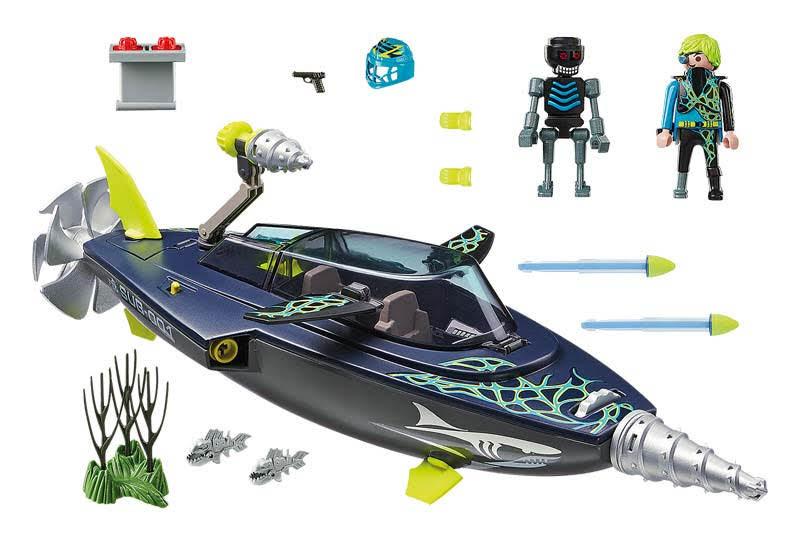 Contenido Real de Playmobil® 70005 SPY TEAM:  Shark Perforadora