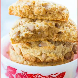 Sea Salt Caramel Thick & Chewy Peanut Butter Cookies.