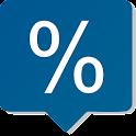Percent & discount calculator icon