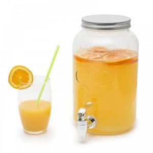 Dispenser pentru limonada din sticla cu robinet 4L