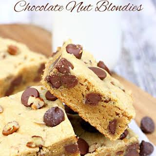 Cake Mix Peanut Butter Chocolate Nut Blondies.