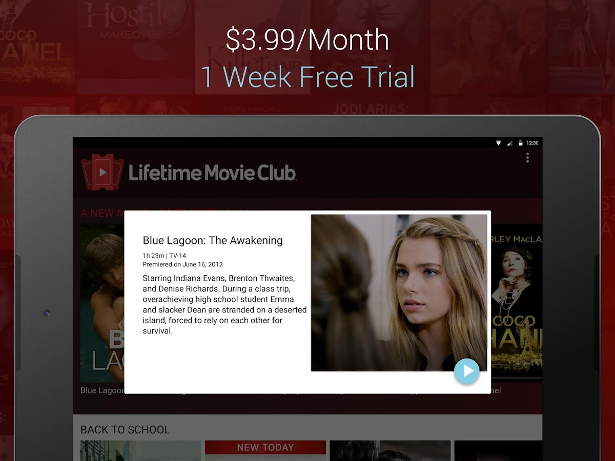 Lifetime Movie Club- screenshot