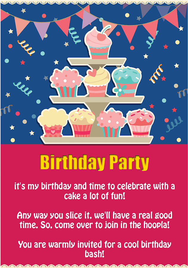 Birthday Party Invitation - Android Apps on Google Play