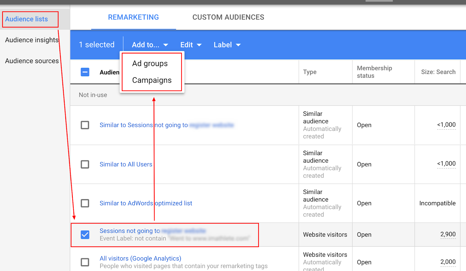 How to create Remarketing Audiences
