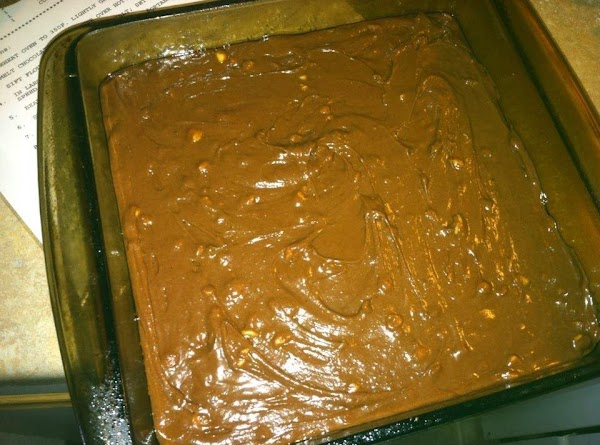 Spread evenly in prepared pan and bake for 25 to 30 minutes.