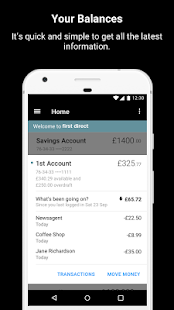 first direct Banking on the go- screenshot thumbnail