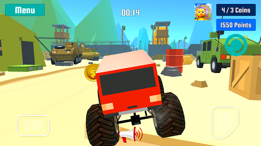 怪物卡車特技速度競賽