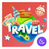 Cartoon Travel - APUS Launcher theme
