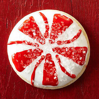 Peppermint Circle Sugar Cookies