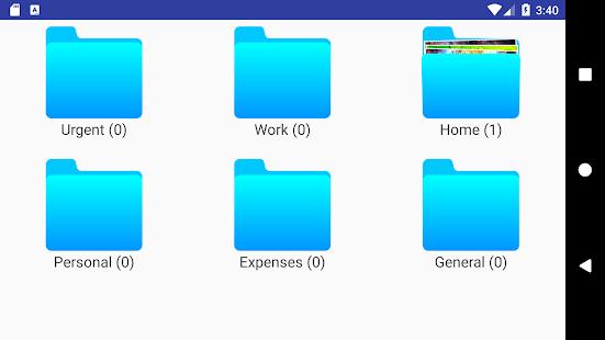 Jotterpad - Folder sorted notebook - náhled