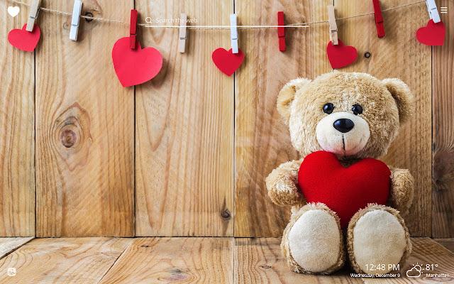 Cute Teddy Bear HD Wallpapers New Tab Theme