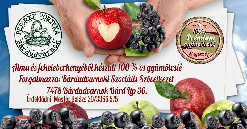 Feketeberkenye és almalé gyümölcslé 2016