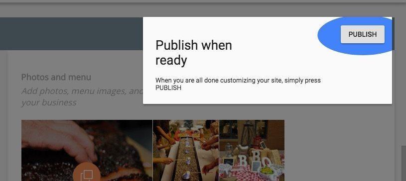 publish when ready google website screen graphic