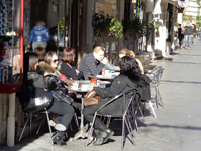 Photo: Warm enough to sit outside on Corso Umberto