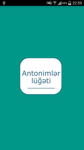 Antonimlər lüğəti