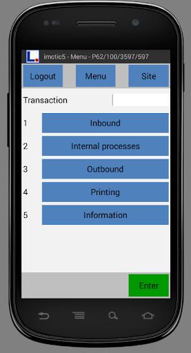 imotic5 warehouse management for SAP® Version 24.10.2018 screenshots 1