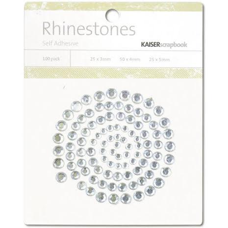 Kaisercraft Self-Adhesive Rhinestones 100/Pkg - Silver