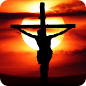 Jesus on the cross Live Wallpaper