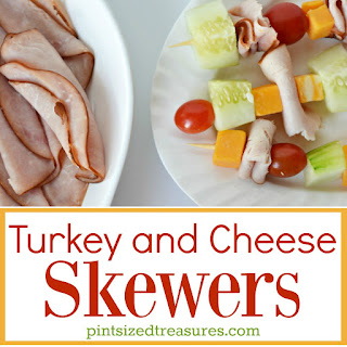 Turkey and Cheese Skewers.