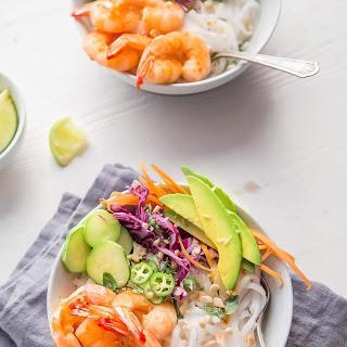 Shrimp Spring Roll Noodle Bowls Recipe