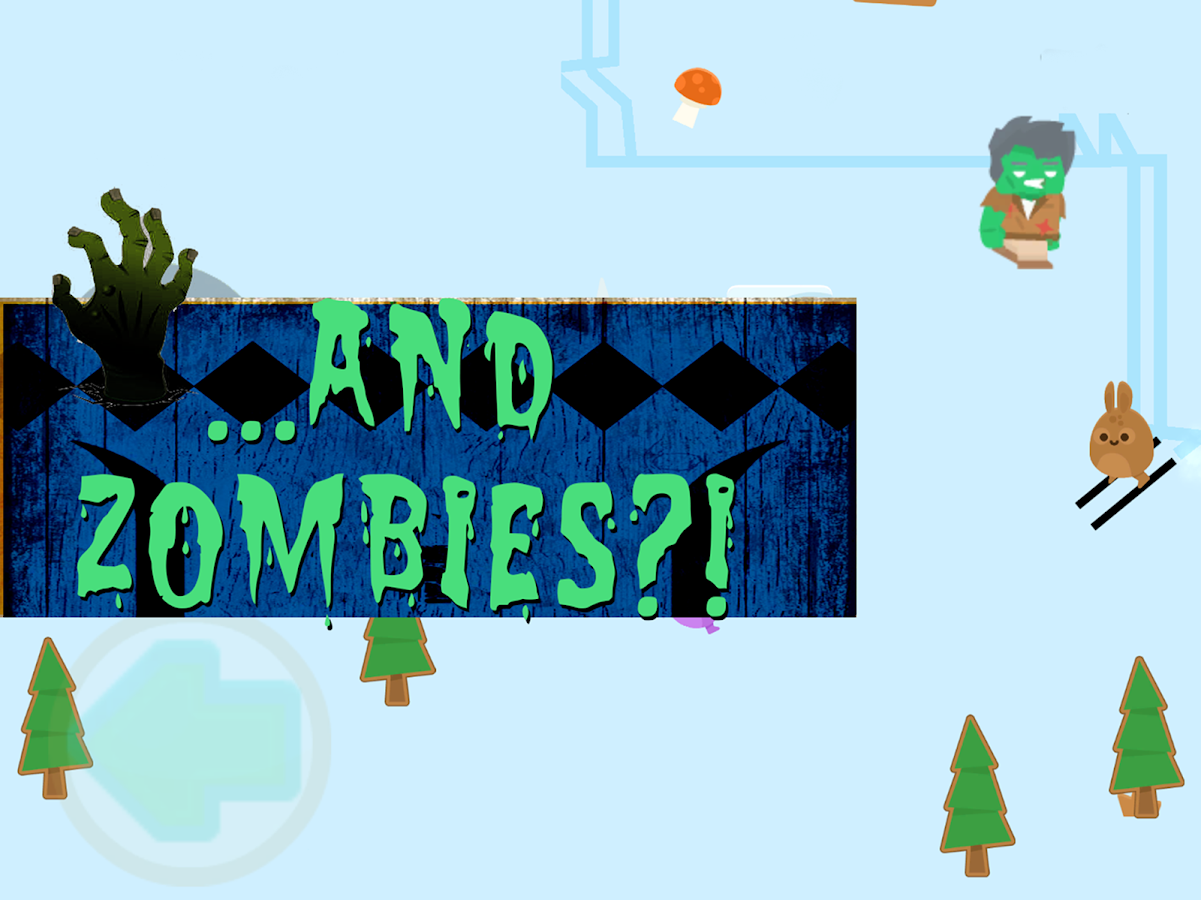 Snow Bunnies: Zombie Ski Run!- screenshot