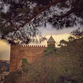 Somewhere in Old Tbilisi by Leyon Albeza - Instagram & Mobile iPhone ( travel photography, georgia, cobblestone, ruins, church, old building, travel, scenery, architecture )