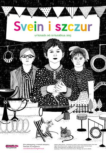 Polski plakat filmu 'Svein i Szczur'