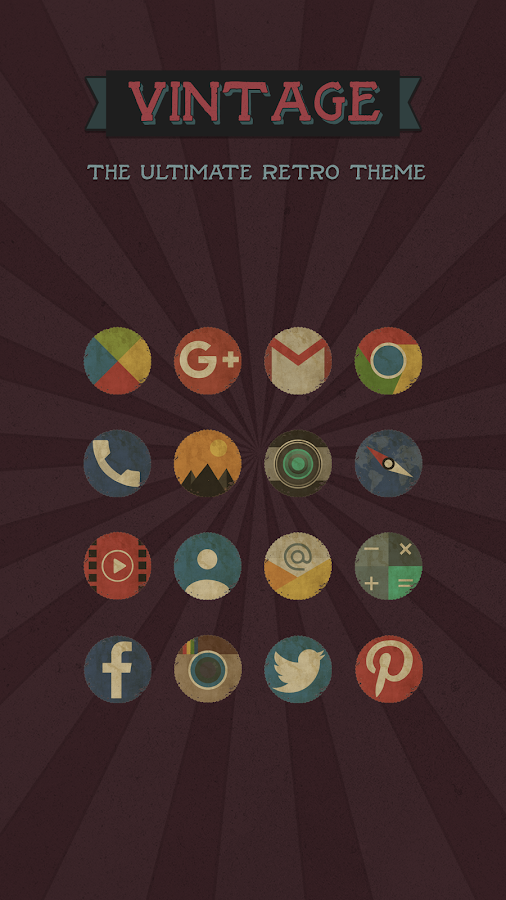 Vintage Icon Pack: captura de pantalla