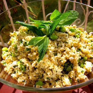 Couscous Salad with Edamame, Feta, and Mint.