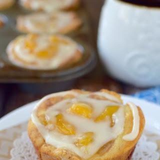 Peach Cinnamon Roll Cups