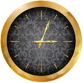 Luxury Gold Clock Widget