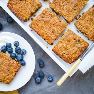 Oat Apple and Walnut Protein Flapjacks