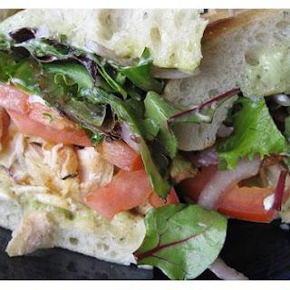 Chicken Pesto Focaccia Sandwich