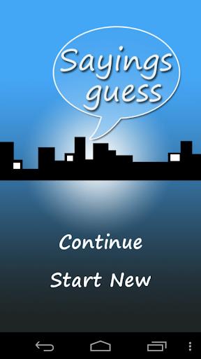 Sayings Guess