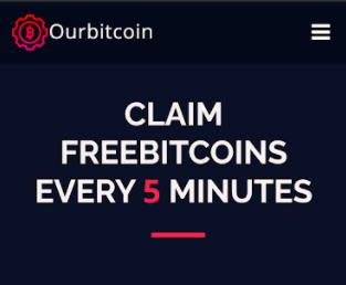 OurBitcoin 5 minute faucet claim