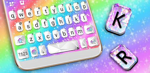 Тема для клавиатуры Rainbow Color <b>Glass</b>