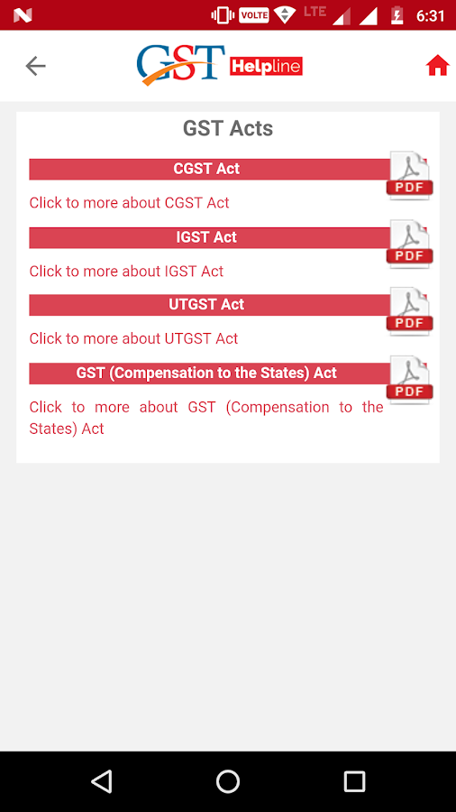 GST Helpline ( Without Ads )- screenshot