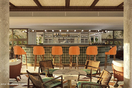 A look at the main lounge and bar aboard AmaDahlia (digital rendering).