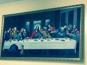 Photo: Day 3: Painting of the Last Supper in the Dining Room