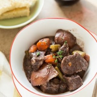 Pressure Cooker Red Wine Beef Stew.
