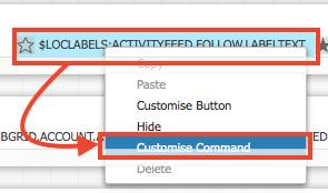 フォローボタンに対してもCustomise Commandを実行